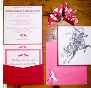 Unicorn-Themed Wedding Invitations