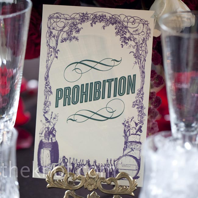 Each table was named after a theme, object, place or character from The Great Gatsby. The letterpress cards were displayed in detailed holders.