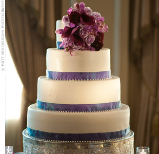 Purple Ribbon Cake