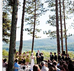 Erin and Greg said their vows overlooking the Catskills. They kept it super-simple -- as if they'd just met beneath the trees.