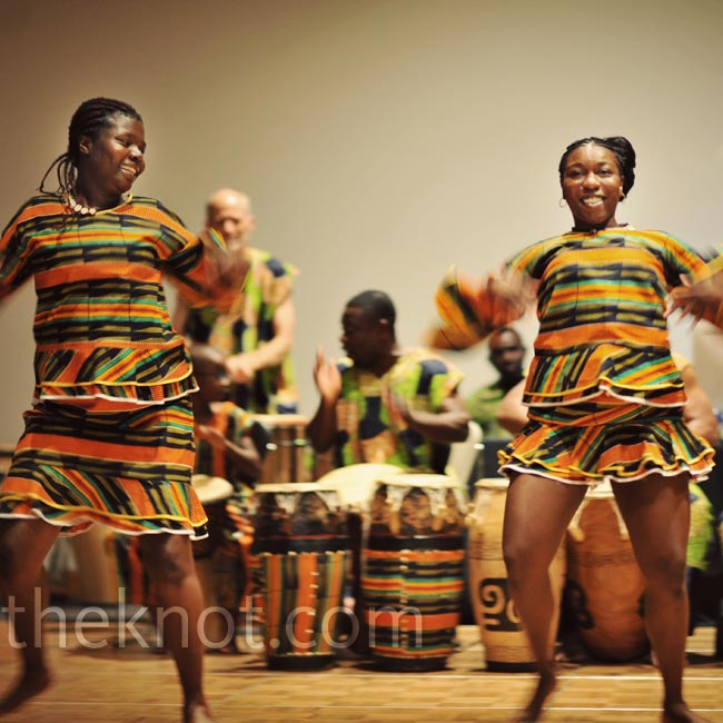 One of the highlights of the reception was the addition of a Ghanaian dance troupe.
