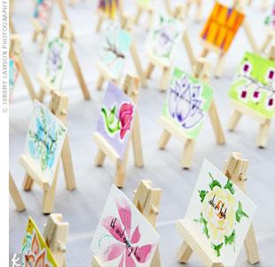 Mini Canvas Escort Cards