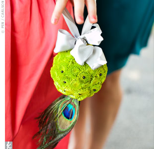 Green Flower Girl Pomander