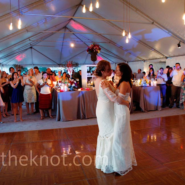 """Monica and Tory chose """"Always"""" by Patsy Cline for their first dance."""