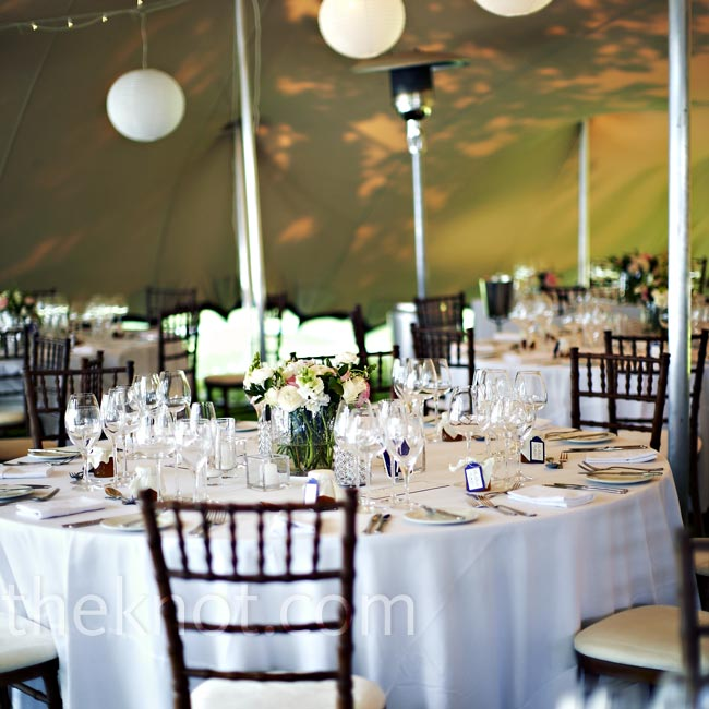Guests danced the night away under a Bedouin-style tent decorated with hanging paper lanterns and string lights.