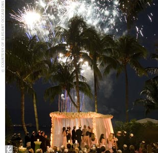 Fireworks were the ultimate finale to this seaside ceremony in Miami.