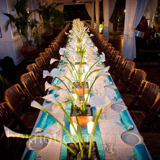 calla lilies wedding reception
