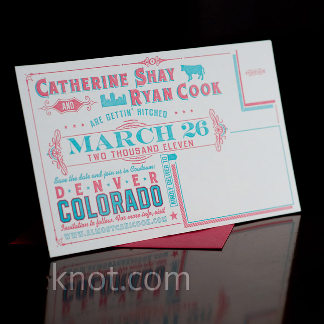 The custom stationery suite was created by Smokeproof Press and carried the couple's theme through the save-the-dates to the menu.