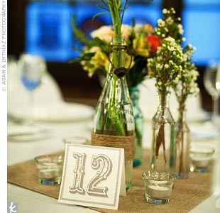 Tying in with the rest of the wedding stationery, the table numbers were letterpressed onto thick, antique white cardstock.