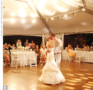 "Their first dance was to ""Hold us Together,"" by Matt Maher. ""The message and lyrics were perfect for Chris and me,"" says Kristen."