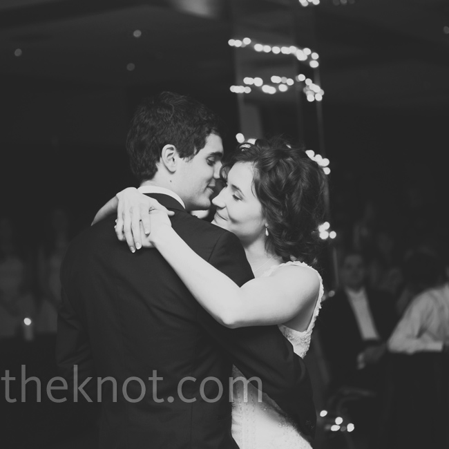 "Glorie and Andy took the floor for their first dance to ""Beside You,"" by Jared Anderson."