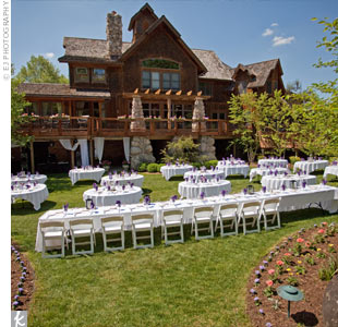 Becky and Darian loved River Birch Lodge because they could have their ceremony and reception all in one place (and outside!).