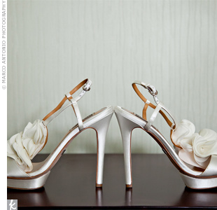 Tatianna rocked these four-inch satin heels by Badgley Mischka.