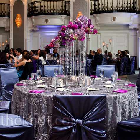 Silver and Purple Decor