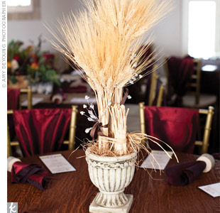 Wheat Stalk Centerpieces
