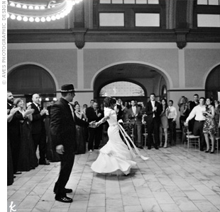 "Having always loved Elvis, the couple chose his song ""Pocketful of Rainbows"" to fit their wedding's vibe."