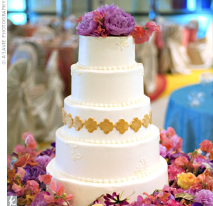 Symbol Decorated White Cake