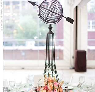 Metal Topiary Centerpieces