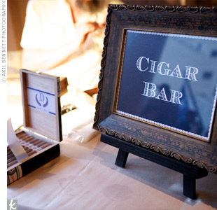 A hand-rolled cigar station was set up on the veranda.