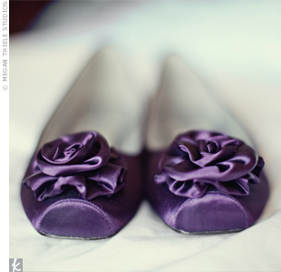 Purple Bridal Flats