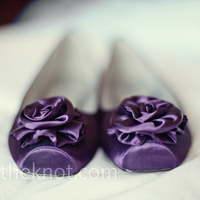 Jacqui loved her purple satin flats which she chose for their fun and flirty look.