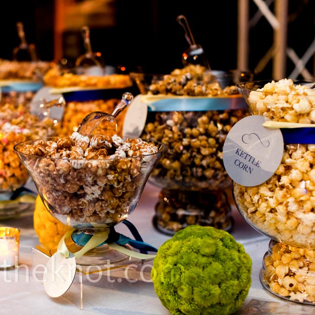 At the end of the night, guests took advantage of the popcorn bar and filled up bags for the trip home.