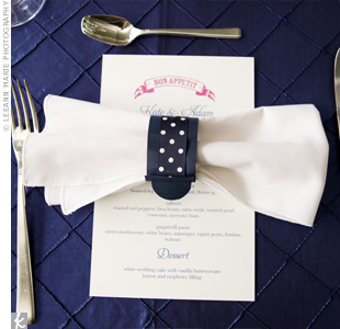 Navy Napkin Rings