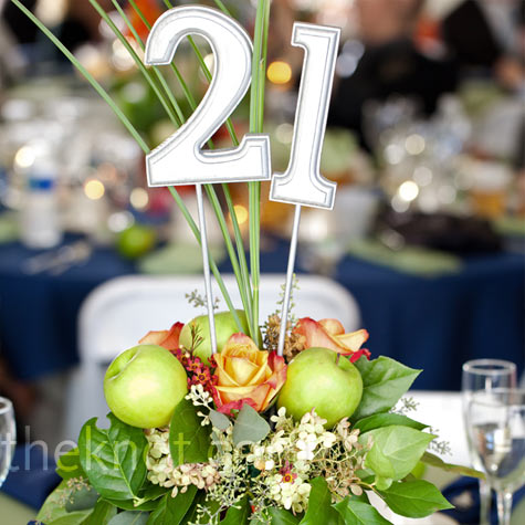 Floral and Apple Centerpieces