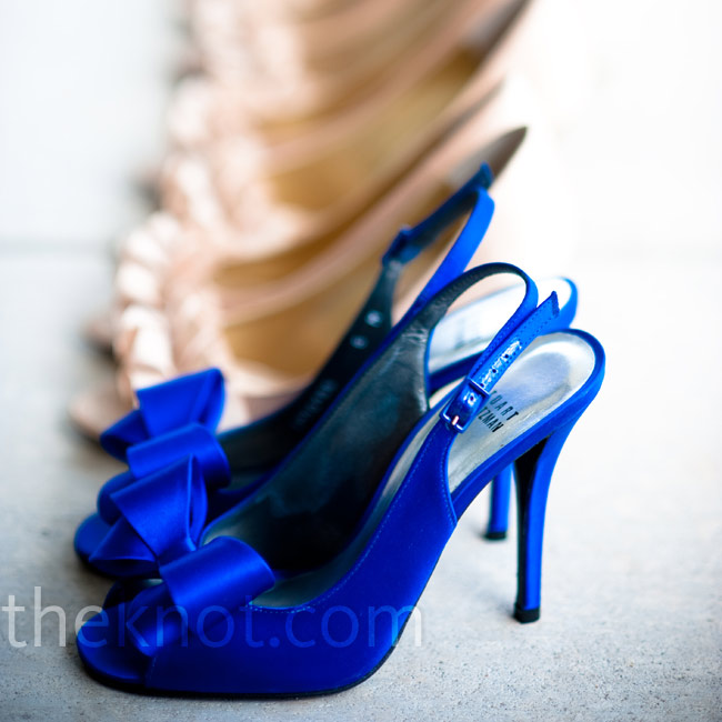 Elizabeth had to have these blue Stuart Weitzman pumps.