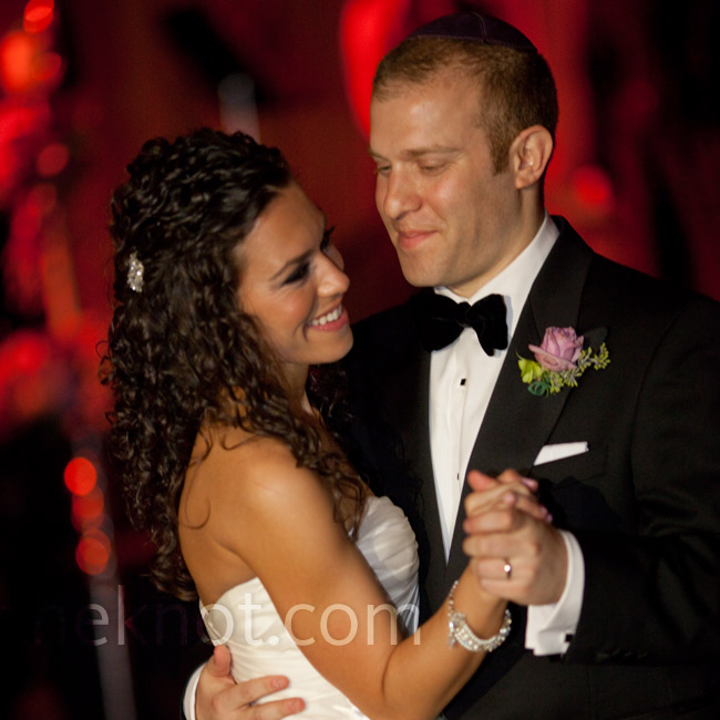 "Amy and Evan danced to ""One"" by U2, a song they've both always loved."