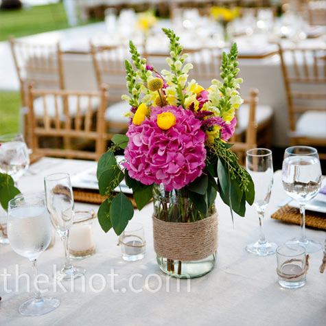 Pink and yellow centerpieces - Red and yellow centerpieces ...