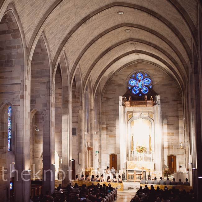 The soaring vaulted ceilings of the cathedral provided a stunning backdrop as Melissa and Thea exchanged vows.