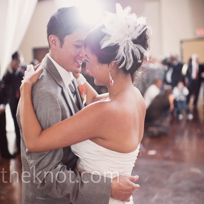 "Melissa and Thea took the floor to ""The Sweetest Love,"" by Robin Thicke, for their first dance."