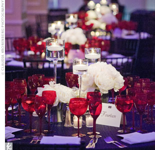Simple White Centerpieces