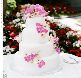 Fresh Orchid Cake