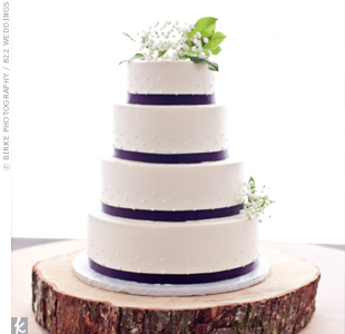 Purple Fondant Ribbon Cake