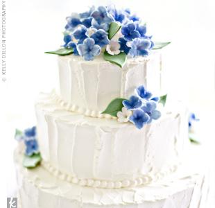 Hand-painted Sugar Hydrangea Cake