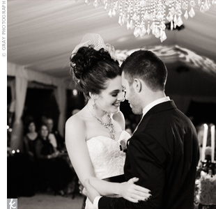 "Scarlett and Stephen shared their first dance to ""Beloved"" by Tenth Avenue North."