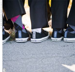 All of the guys wore argyle socks and Converse sneakers customized with their nicknames.