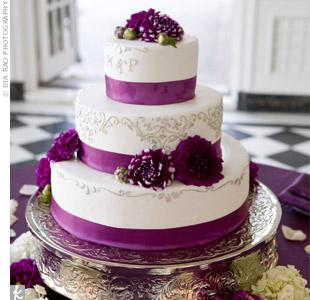 Magenta Ribbon Cake
