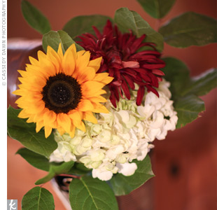 Dahlia and Sunflower Decor