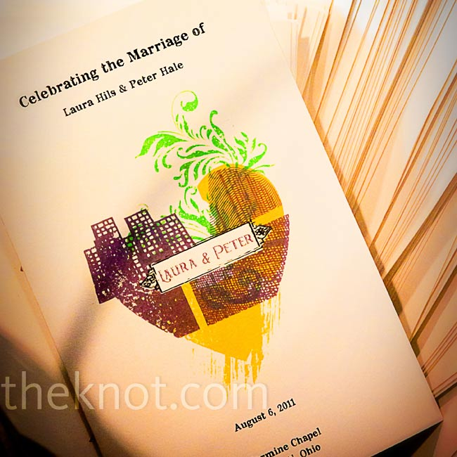 The modern design on the cover of the programs featured a city skyline and a plant motif merged into the shape of a heart.