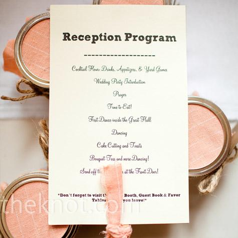 Wedding Reception Order Of Events Program Weddings In