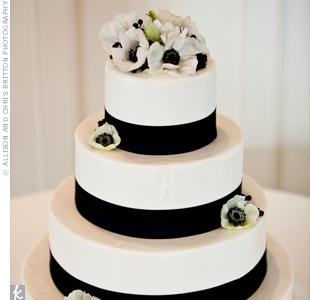 White Anemone Cake Topper