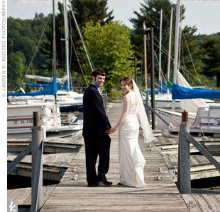 The couple chose Claytor Lake for its natural beauty and for convenience: They were able to have their ceremony and reception in one location.