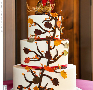 Autumn Leaf Cake