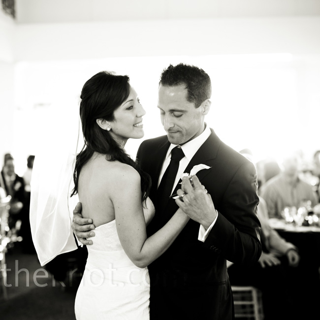 "The couple danced their first dance to Sam Cooke's ""Cupid."""