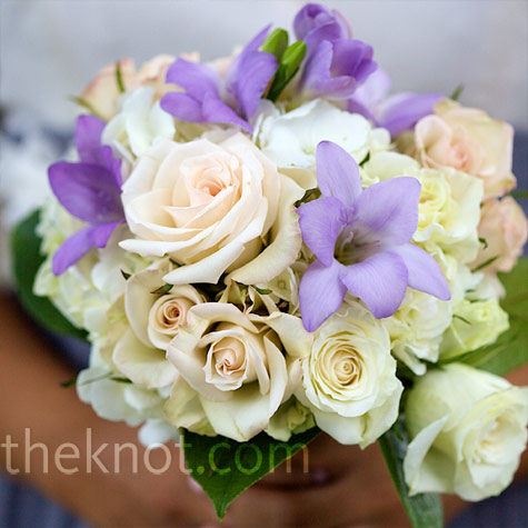 Ivory and Lavender Bouquet