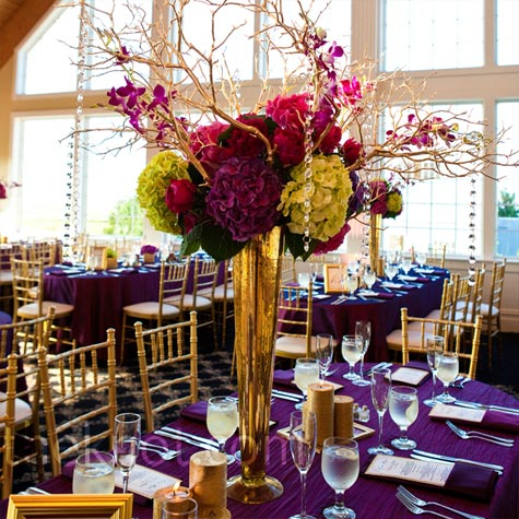 Purple And Gold Wedding Picturesso