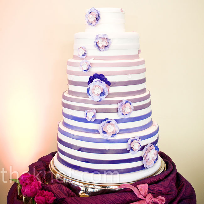 Ombre-style fondant 